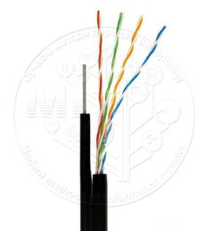Ethernet кабель Step4Net UTP CAT 5е 4P 0,51мм CCA зовнішній, самонесучий
