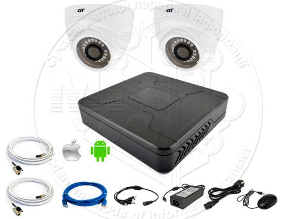 Комплект відеоспостереження GT DVR4 IND-2